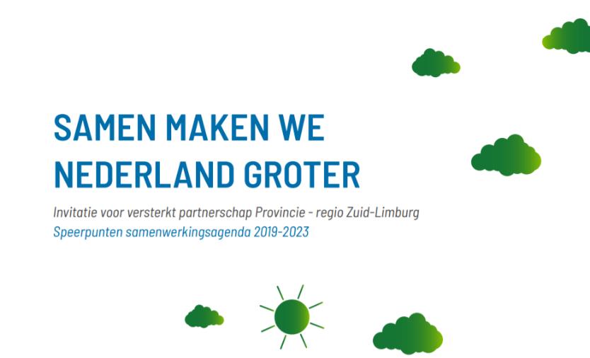 Zuid-Limburg wil versterkt partnerschap met Provincie
