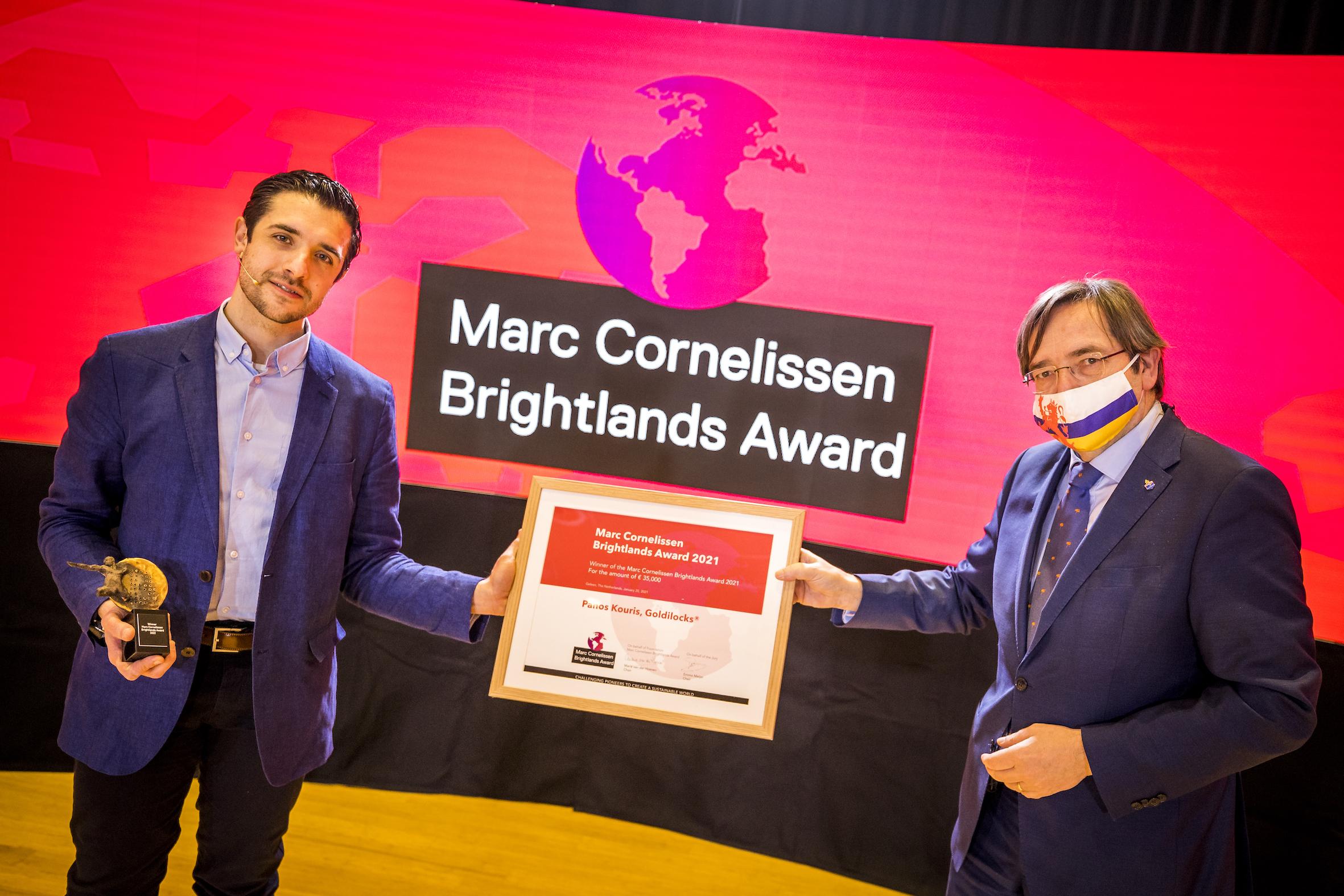 Marc Cornelissen Brightlands Award naar Panos Kouris